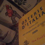 This Osteria is in the Slow Food  guide