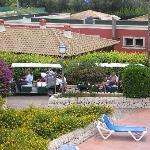 ristorante visto dalla piscina