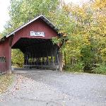 covered bridge by the property