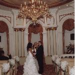 Inside the chapel saying our vows