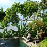 Blick von der Villa in die Bucht von Jimbaran