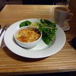 Vegetarian bake with salad