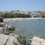 Naoussa beach & town are reachable by bus on the island's other end (more lively area of Paros)