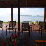 Outlook from the restaurant / reception area