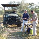 pause café de luxe en safari