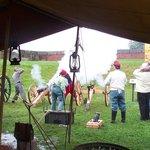 Civil War artillery firing!