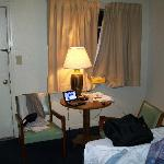 Here's the room, w/no frills, but who cares?