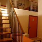 In one of the 4-bed rooms.  Note - there are 2 beds down below plus 2 more upstairs.  Bathroom i