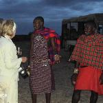 sundowners with our hosts