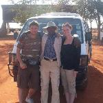 Us with our safari guide kennedy