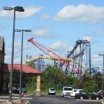 This is how close you are to Six Flags - taken from hotel parking lot