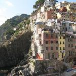 Riomaggiore, apt is above swim area