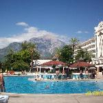 mountain view from the main pool