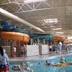 Water slides.
