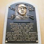 Cy Young's plaque