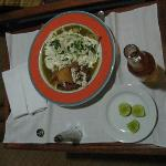 Enchiladas room service