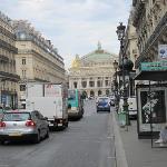 At hotel corner looking up at the Opéra Garnier