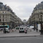 Looking down from the Opéra Garnier