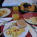 Delicious breakfast served to your room every morning