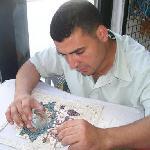 A mosaic artist