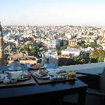 Breakfast on our private terrace with view of the Bosphorus