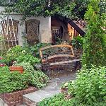 Garden at entrance