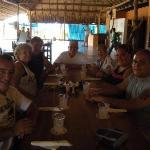 our group at lunch at the ostrich farm