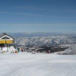 Skeeing at Nozawa Onsen on the Japanese alps, Nagano.