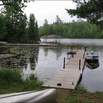 Each cabin has its own dock, boat, and canoe
