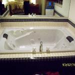 Hot tub in the room