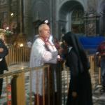 Nun kissing the vile of saint's blood (the miracle of San Gennaro)