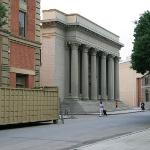 The Warner backlot.  This was used as Gotham City Hall in the original Batman TV show.