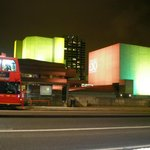 The National Theatre from Waterloo Bridge: an artistic lighting scheme illuminating the exterior