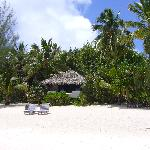 Pacific Resort, Aitutaki - One of the bungalows with sea view