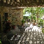 Long shot of patio