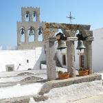 Day 3 Patmos Greece - On roof top of  the Monestery of St John.