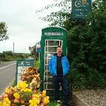Cool green phone box
