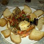piatto tipico ai frutti di mare