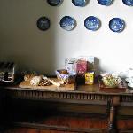 Breakfast starters - breads, cereals, fruit, yogurt