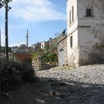 The street leading to Aravan Evi