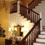 Staircase from foyer