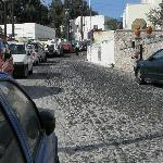 Cobblestone drive up to the hotel.  We were dropped off/picked up right from the main street.