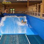 Indoor Flowrider!  It's great!!!