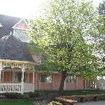 Photo of the exterior with one of the gazebos