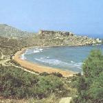Malta Ghajn Tuffieha Bay Sandy Beach