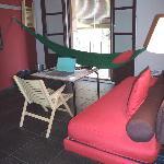 Longe Room in my suite at Casa Camper