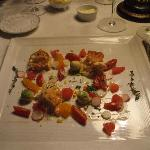 first course: lobster salad