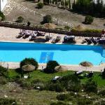Ariel view of pool area