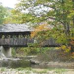 Oldest Covered Bridge in Maine. 1 1/2 miles from Grand Summit