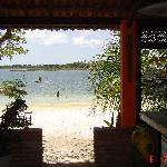 il ristorante con vista sul lago